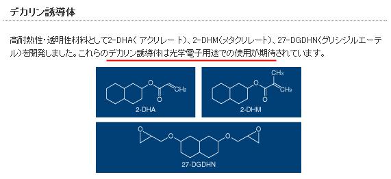 スガイ化学デカリン誘導体
